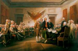 Founding Fathers sign the Constitution of the United States of America